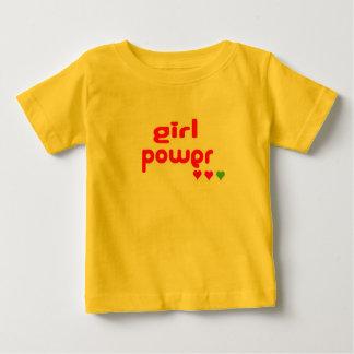 Mini yo poder retro del chica camiseta de bebé
