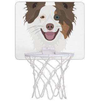 Miniaro De Baloncesto Border collie feliz de la cara de los perros del