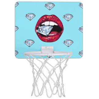 Miniaro De Baloncesto Diamante elegante de los labios femenino