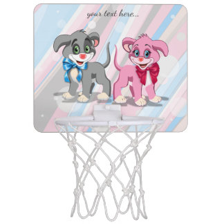 Miniaro De Baloncesto Dibujo animado de los perritos de la nariz del