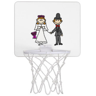 Miniaro De Baloncesto Dibujo animado divertido del boda de novia y del