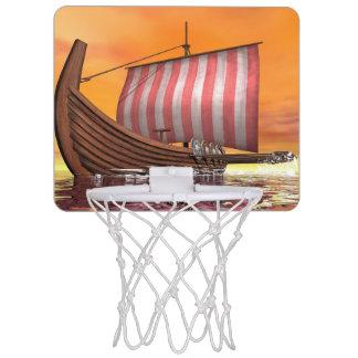 Miniaro De Baloncesto Drakkar o nave de vikingo - 3D rinden