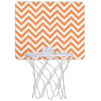 Miniaro De Baloncesto El zigzag anaranjado y blanco raya el modelo de