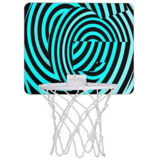 Miniaro De Baloncesto Elemento loco de las rayas azules