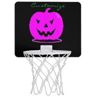 Miniaro De Baloncesto Jack rosado Halloween o'lantern Thunder_Cove