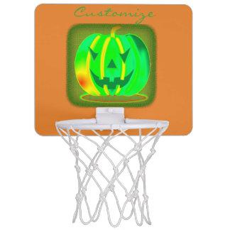 Miniaro De Baloncesto Jack verde Halloween o'lantern Thunder_Cove