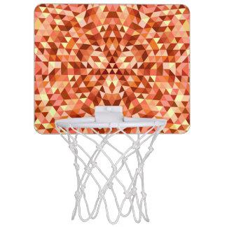 Miniaro De Baloncesto Mandala caliente del triángulo