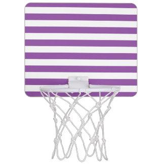 Miniaro De Baloncesto Modelo púrpura y blanco de la raya