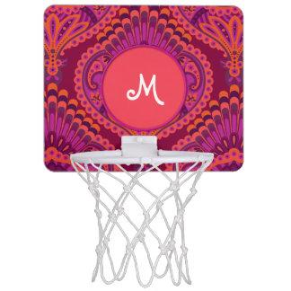 Miniaro De Baloncesto Paisley emplumada - Pinkoinko