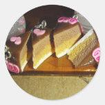 Miniatura de la torta de la cereza pegatina redonda