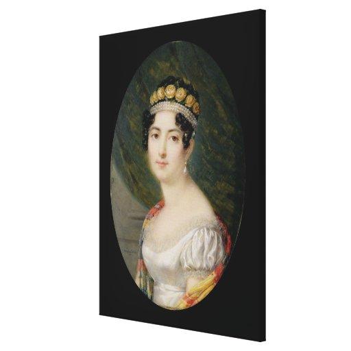 Miniatura del retrato de la emperatriz Josephine ( Lienzo Envuelto Para Galerías