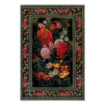 Miniatura floral de gran colorido del arte persa