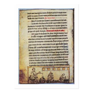 """Miniatura inglesa, """"Medica"""", ilustrando un apoth Postal"""
