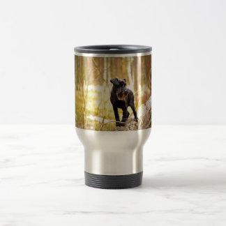 miniatura-schnauzer taza de viaje