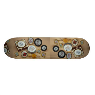 Miniaturas bordadas en marcos tablas de patinar