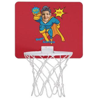 Minicanasta De Baloncesto Arte cómico personalizado super héroe de la foto