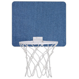 Minicanasta De Baloncesto Dril de algodón azul original de la mezclilla de
