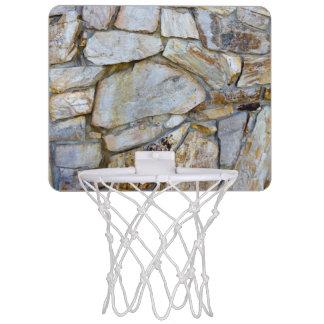Minicanasta De Baloncesto Foto de la textura de la pared de la roca en mini
