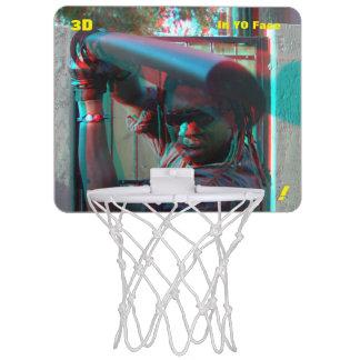 Minicanasta De Baloncesto hombre Ronnie del karate 3D poco
