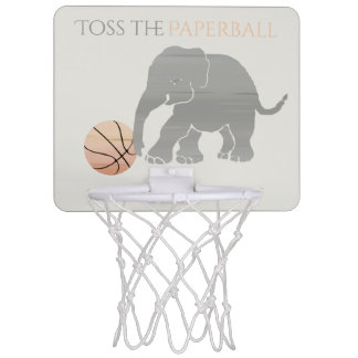 Minicanasta De Baloncesto Lance el elefante de Paperball que juega a
