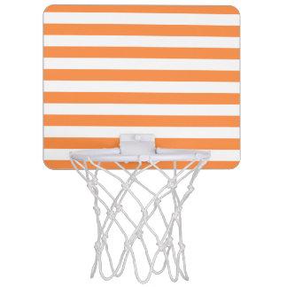 Minicanasta De Baloncesto Modelo anaranjado y blanco de la raya