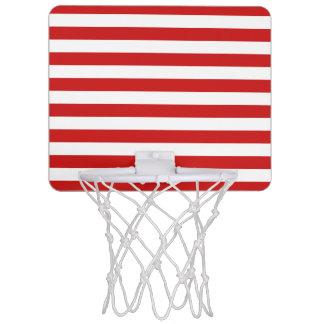Minicanasta De Baloncesto Modelo rojo y blanco de la raya