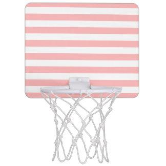 Minicanasta De Baloncesto Modelo rosado y blanco de la raya