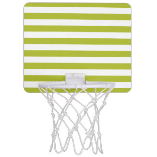 Minicanasta De Baloncesto Modelo verde y blanco de la raya