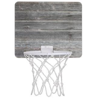 Minicanasta De Baloncesto Pared de madera resistida rústica