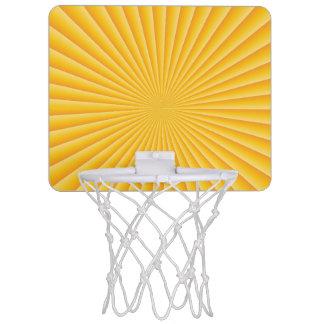 Minicanasta De Baloncesto Puesta del sol de la buena mañana
