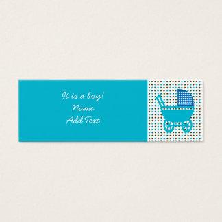 Minicard de la invitación del nacimiento del bebé