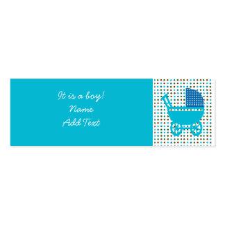 Minicard de la invitación del nacimiento del bebé tarjetas de visita mini