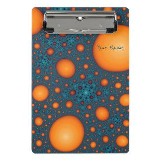 Minicarpeta De Pinza Burbujas anaranjadas. Añada su texto del nombre o
