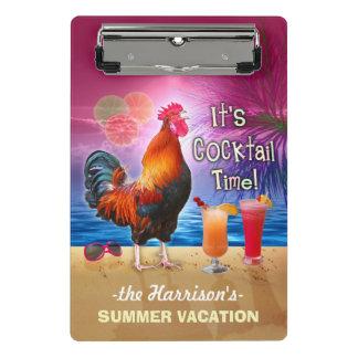 Minicarpeta De Pinza Gallo divertido tropical de las vacaciones el | de