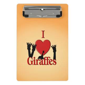 Minicarpeta De Pinza I jirafas del corazón