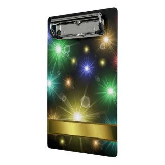 Minicarpeta De Pinza muchas luces festivas que brillan intensamente