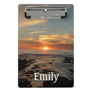Minicarpeta De Pinza Paisaje marino de la puesta del sol II California