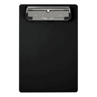 Minicarpeta De Pinza Personalizar simplemente negro del color sólido él