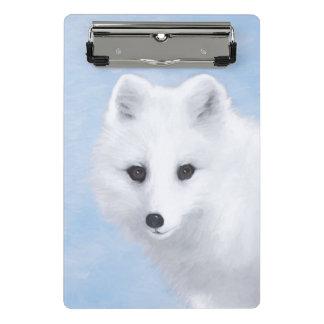 Minicarpeta De Pinza Pintura del Fox ártico - arte original de la fauna