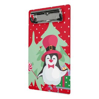 Minicarpeta De Pinza Un pingüino festivo - 1