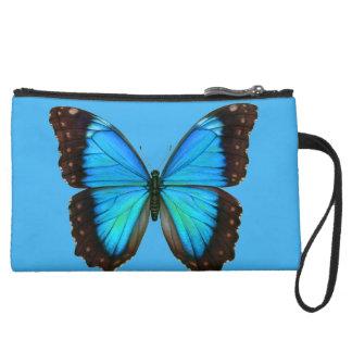 Miniclutch De Ante Mitón azul personalizado de la mariposa