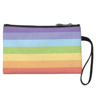 Miniclutch El arco iris en colores pastel raya orgullo gay