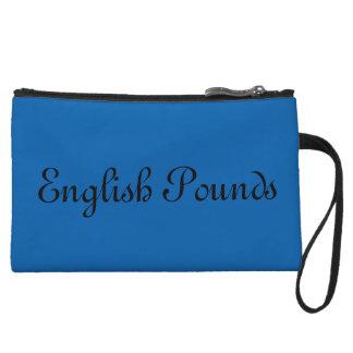 Miniclutch El inglés golpea el mitón, azul