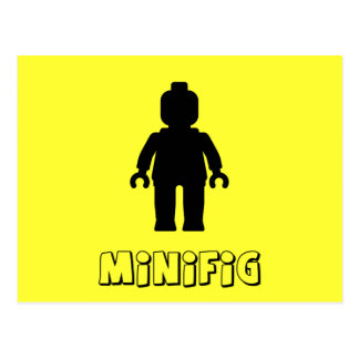 Minifig [negro] cerca modifica mi Minifig para req Tarjeta Postal