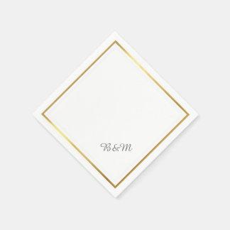 minimalist blanco reception_party del boda servilleta de papel