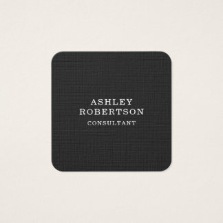 Minimalist de moda elegante profesional del blanco tarjeta de visita cuadrada