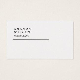 Minimalist de moda llano especial exclusivo del tarjeta de visita