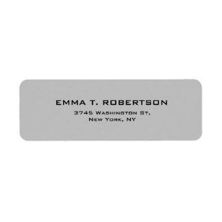 Minimalist de moda moderno elegante del gris de etiqueta de remite
