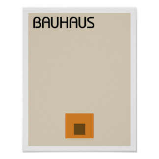 Minimalist del Bauhaus II Póster