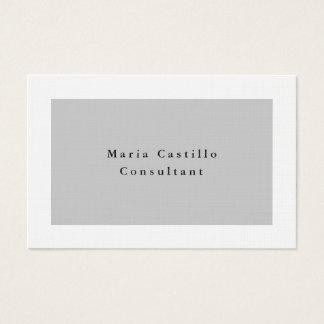 Minimalist elegante llano del blanco gris moderno tarjeta de visita